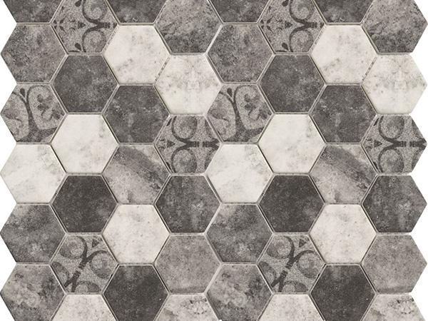 Hexagonal Stone Barque Grey